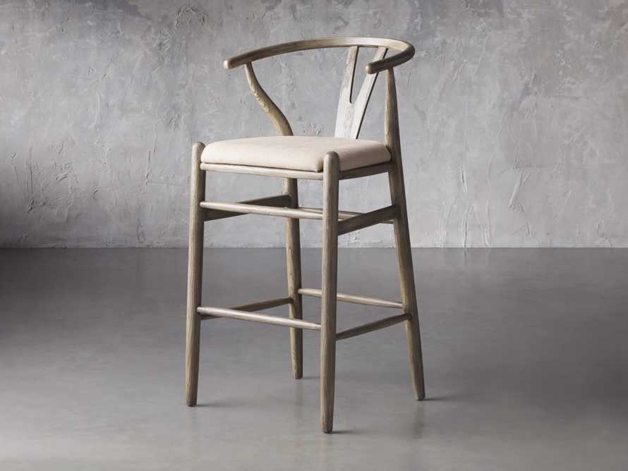 Robin Bar Stool in Stone Vintage, slide 3 of 8