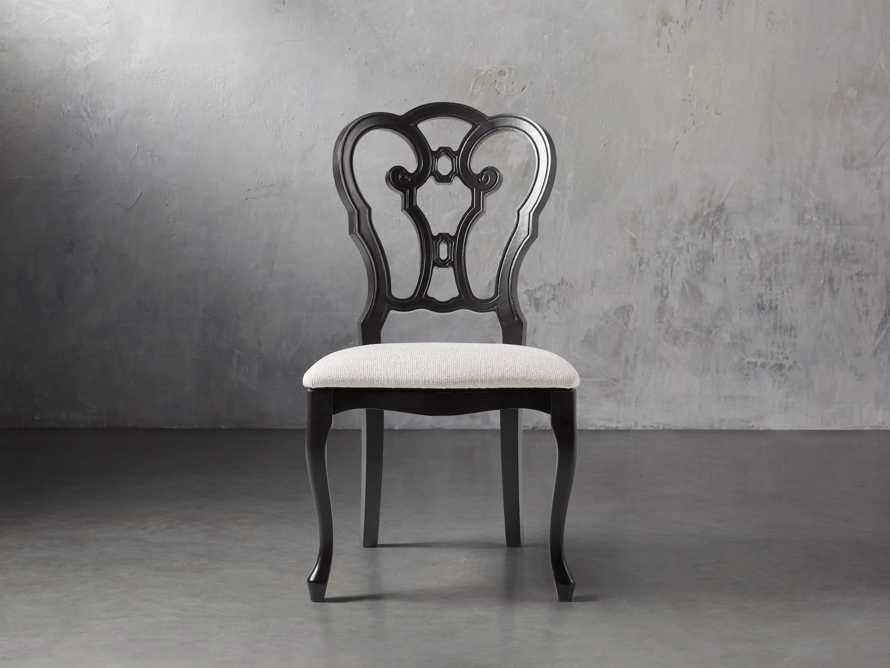 "Sabine 21"" Bell'Arte Dining Side Chair with Upholstered Seat, slide 3 of 9"