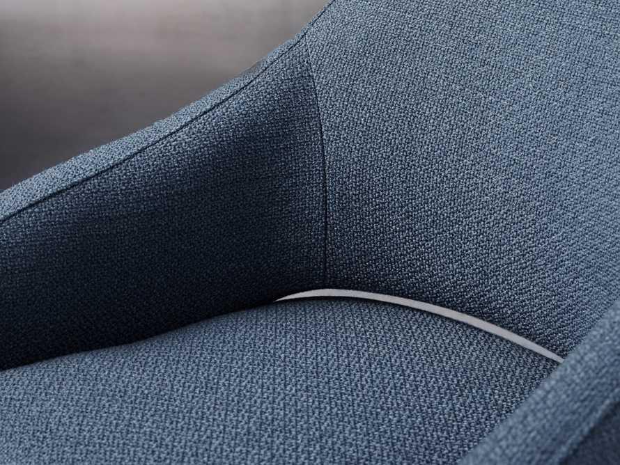 """Stevie Upholstered 24"""" Dining Arm Chair in Moto Cadet, slide 5 of 9"""
