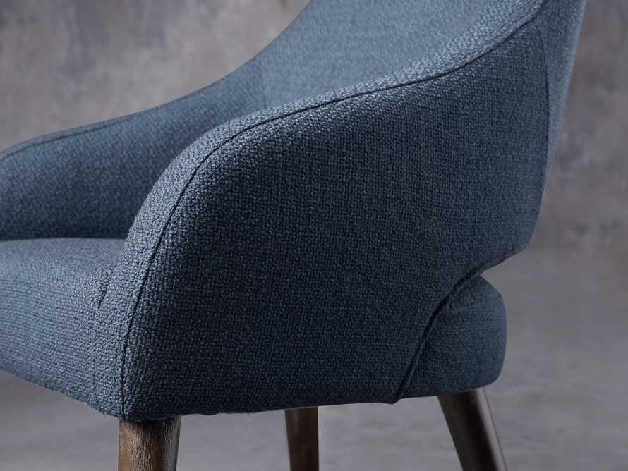"""Stevie Upholstered 24"""" Dining Arm Chair in Moto Cadet, slide 7 of 9"""