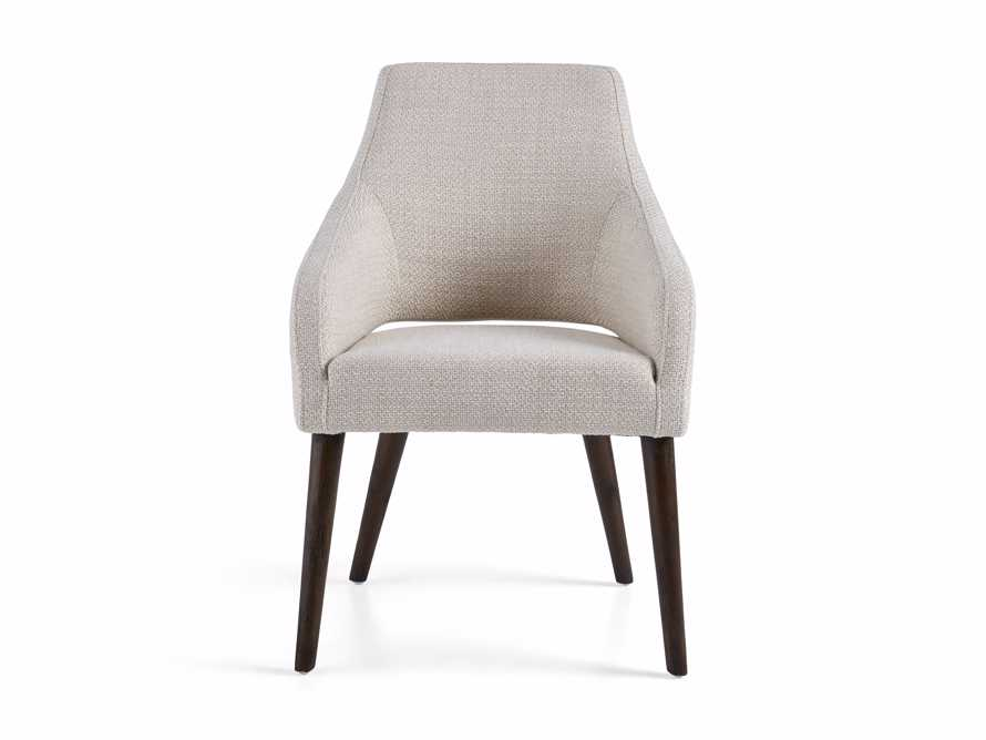"Stevie 24"" Upholstered Dining Arm Chair in Moto Stucco, slide 9 of 10"