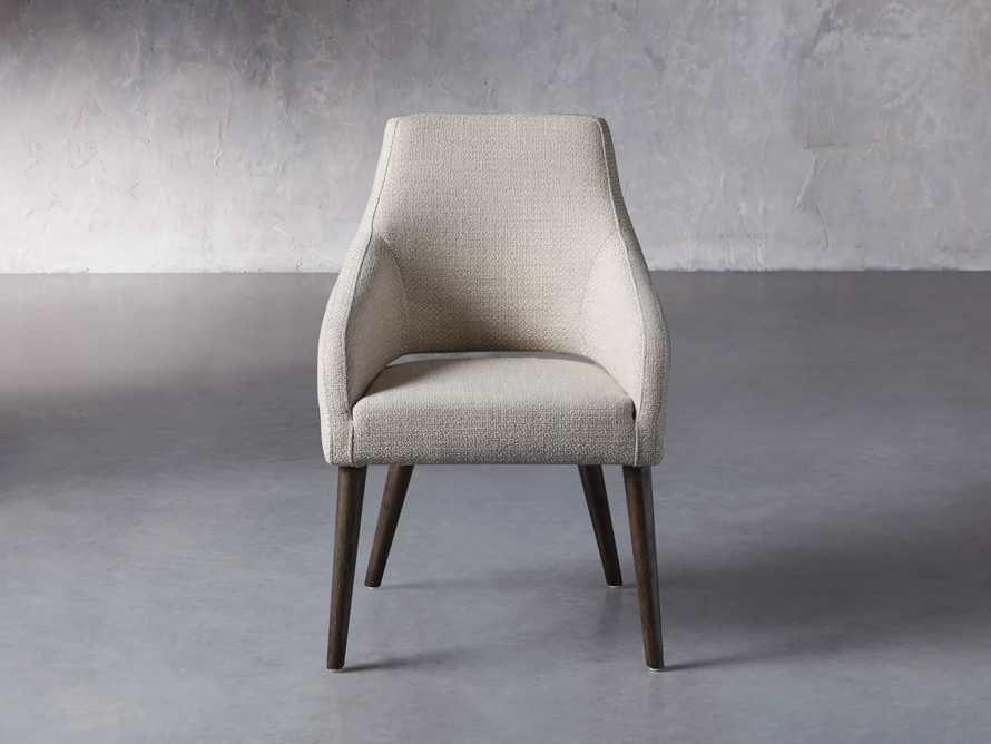 "Stevie 24"" Upholstered Dining Arm Chair in Moto Stucco, slide 2 of 10"