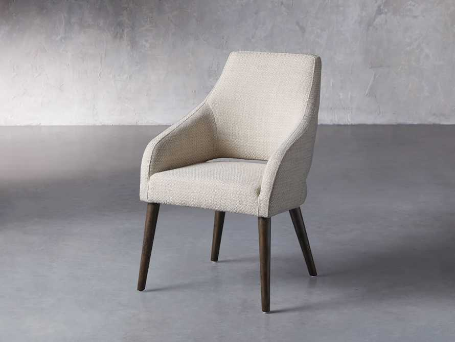 "Stevie 24"" Upholstered Dining Arm Chair in Moto Stucco, slide 3 of 10"