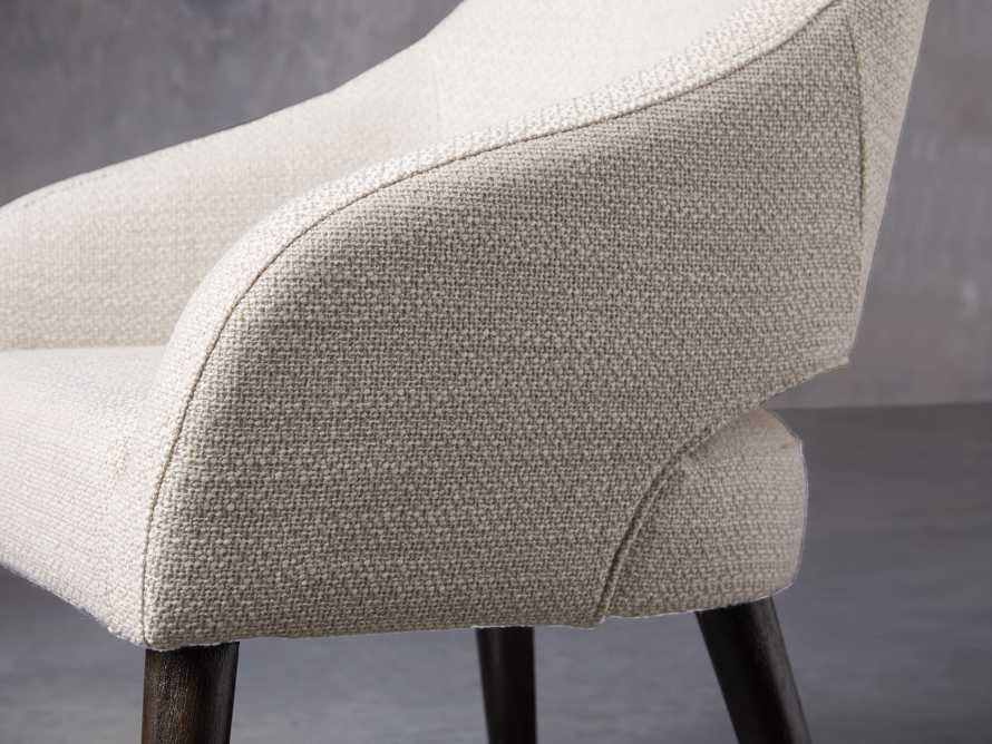 "Stevie 24"" Upholstered Dining Arm Chair in Moto Stucco, slide 6 of 10"