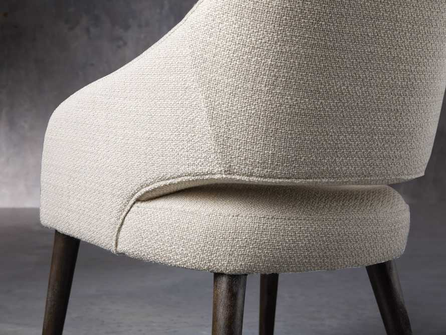 "Stevie 24"" Upholstered Dining Arm Chair in Moto Stucco, slide 8 of 10"