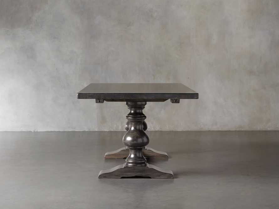 "Tuscany 118"" x 44"" Extension Dining Table in Porfido, slide 5 of 17"