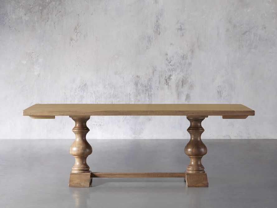 """Tuscany 78"""" Extension Dining Table in Blonde, slide 2 of 8"""