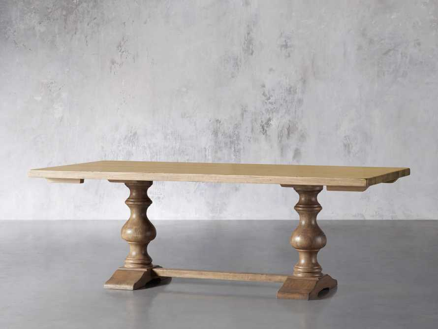 """Tuscany 78"""" Extension Dining Table in Blonde, slide 3 of 8"""