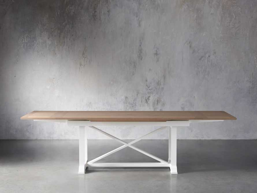 "Tavola 74"" Refectory Dining Table in Ombra Oak and All White, slide 6 of 10"