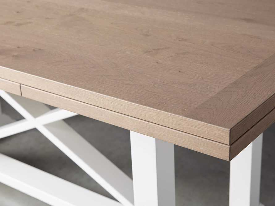 "Tavola 74"" Refectory Dining Table in Ombra Oak and All White, slide 8 of 10"