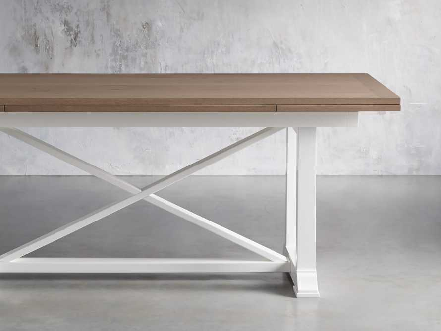 "Tavola 74"" Refectory Dining Table in Ombra Oak and All White, slide 2 of 10"