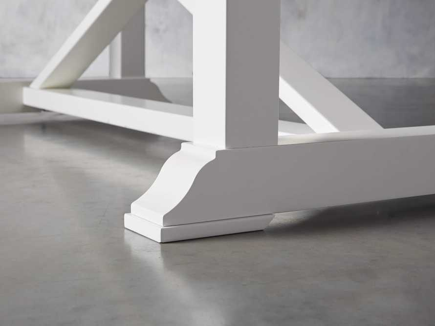 """Tavola 87"""" Refectory Dining Table in Ombra Oak and All White, slide 7 of 10"""
