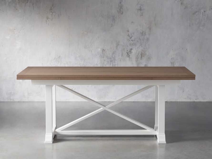"""Tavola 87"""" Refectory Dining Table in Ombra Oak and All White, slide 3 of 10"""