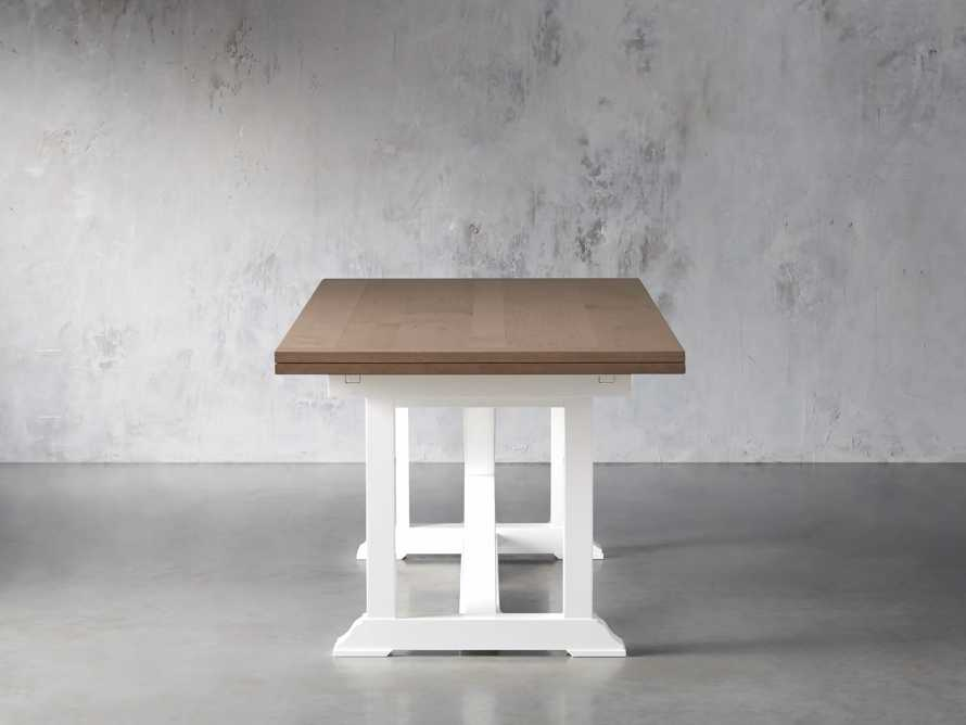 """Tavola 87"""" Refectory Dining Table in Ombra Oak and All White, slide 4 of 10"""