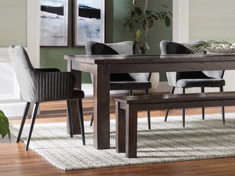 """Tay 23"""" Dining Arm Chair In Edie Charcoal, slide 1 of 8"""