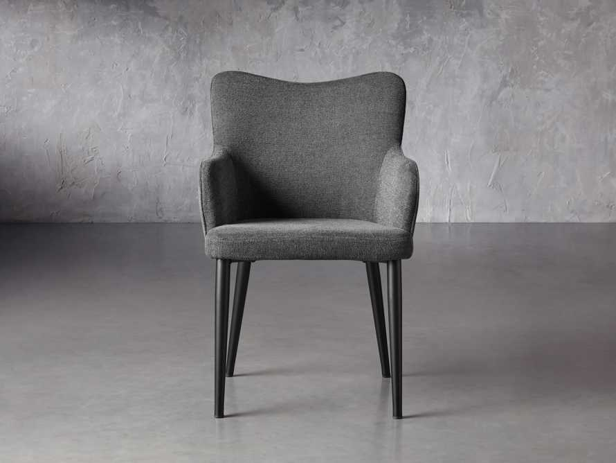 """Tay 23"""" Dining Arm Chair In Edie Charcoal, slide 2 of 8"""