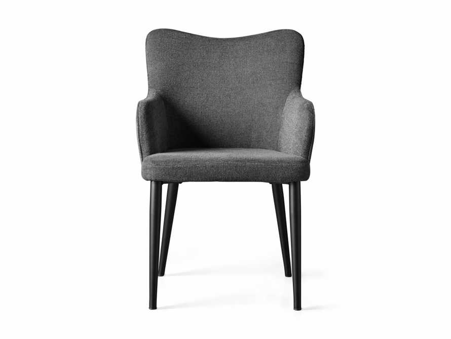 """Tay 23"""" Dining Arm Chair In Edie Charcoal, slide 7 of 8"""