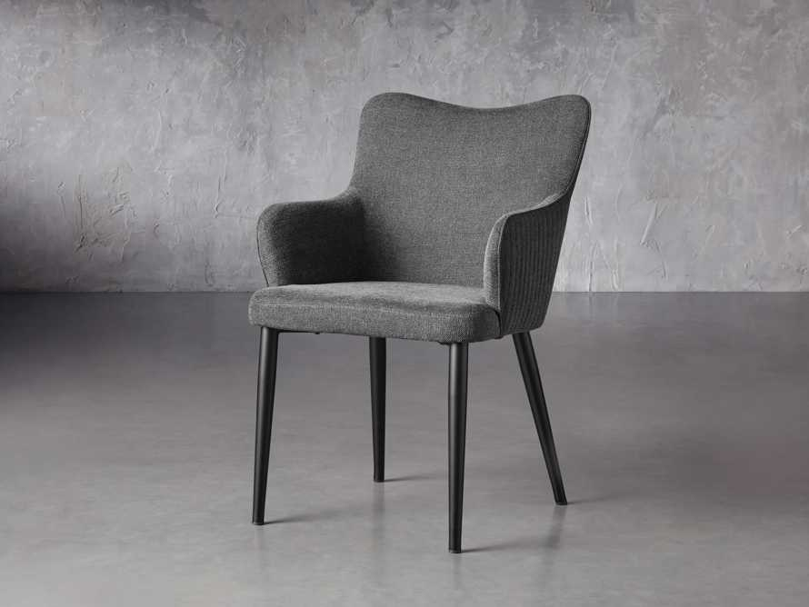 """Tay 23"""" Dining Arm Chair In Edie Charcoal, slide 3 of 8"""