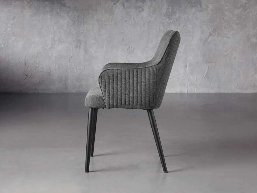 """Tay 23"""" Dining Arm Chair In Edie Charcoal, slide 4 of 8"""