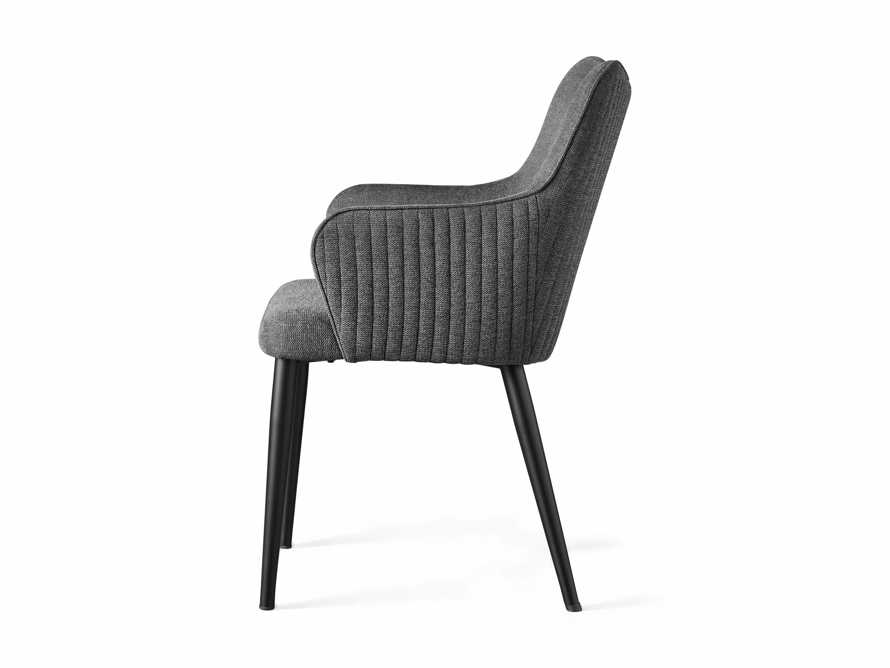 """Tay 23"""" Dining Arm Chair In Edie Charcoal, slide 8 of 8"""