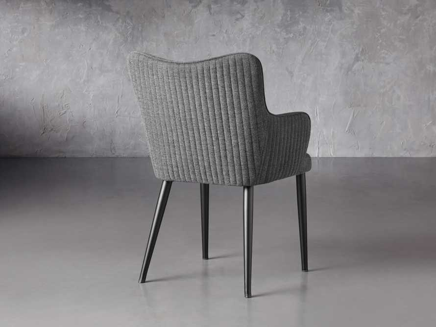 """Tay 23"""" Dining Arm Chair In Edie Charcoal, slide 5 of 8"""