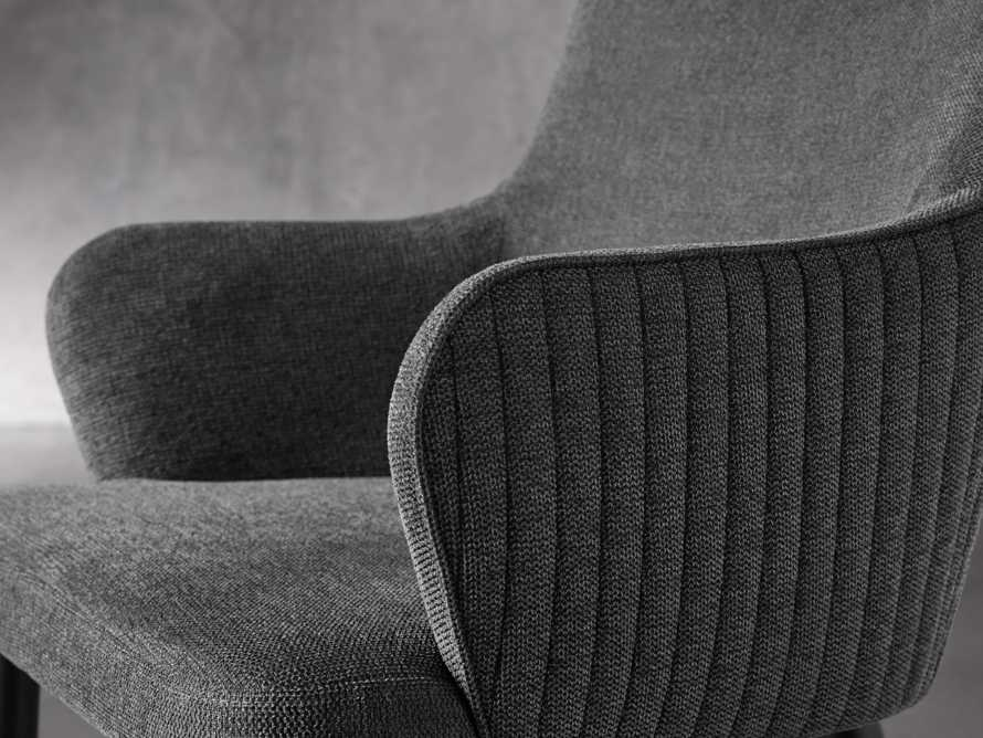 """Tay 23"""" Dining Arm Chair In Edie Charcoal, slide 6 of 8"""