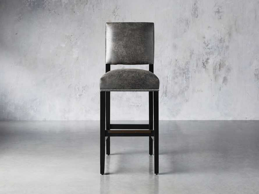 "Torino Recycled Leather 19"" Barstool, slide 1 of 3"
