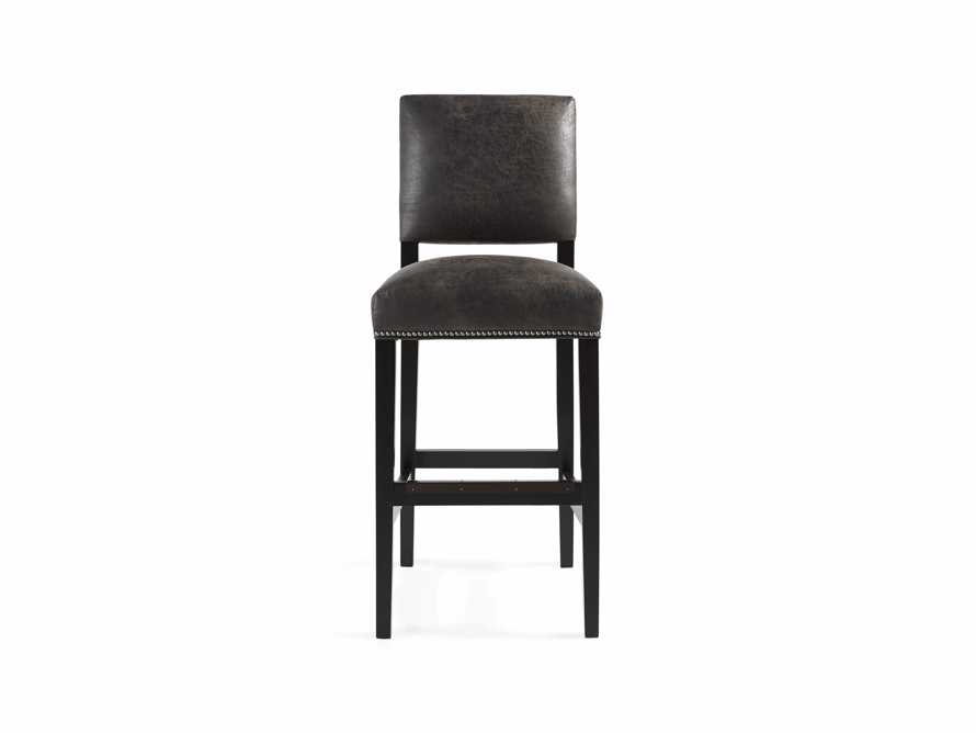 "Torino Recycled Leather 19"" Barstool, slide 2 of 3"