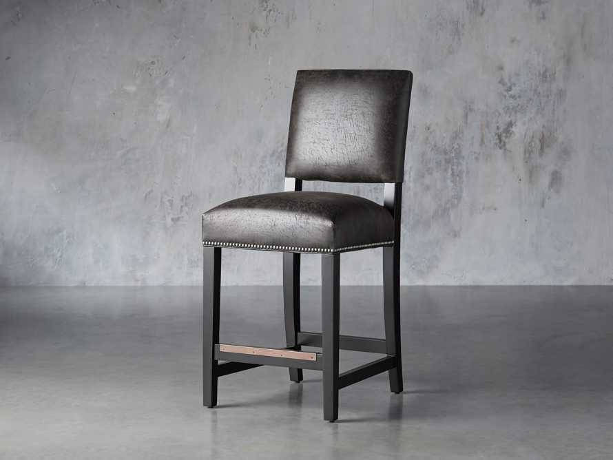 "Torino Recycled Leather 19"" Counter Stool, slide 2 of 7"