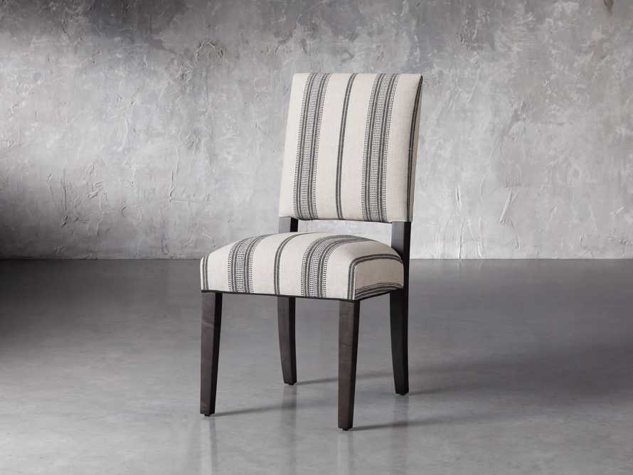 """Torino 20"""" Upholstered Dining Side Chair in With Contrast Welt, slide 2 of 7"""