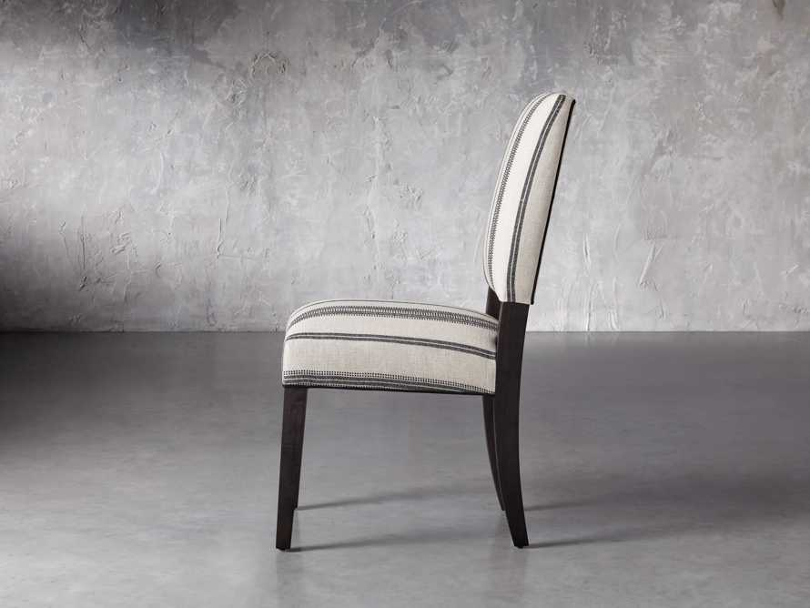 """Torino 20"""" Upholstered Dining Side Chair in With Contrast Welt, slide 3 of 7"""