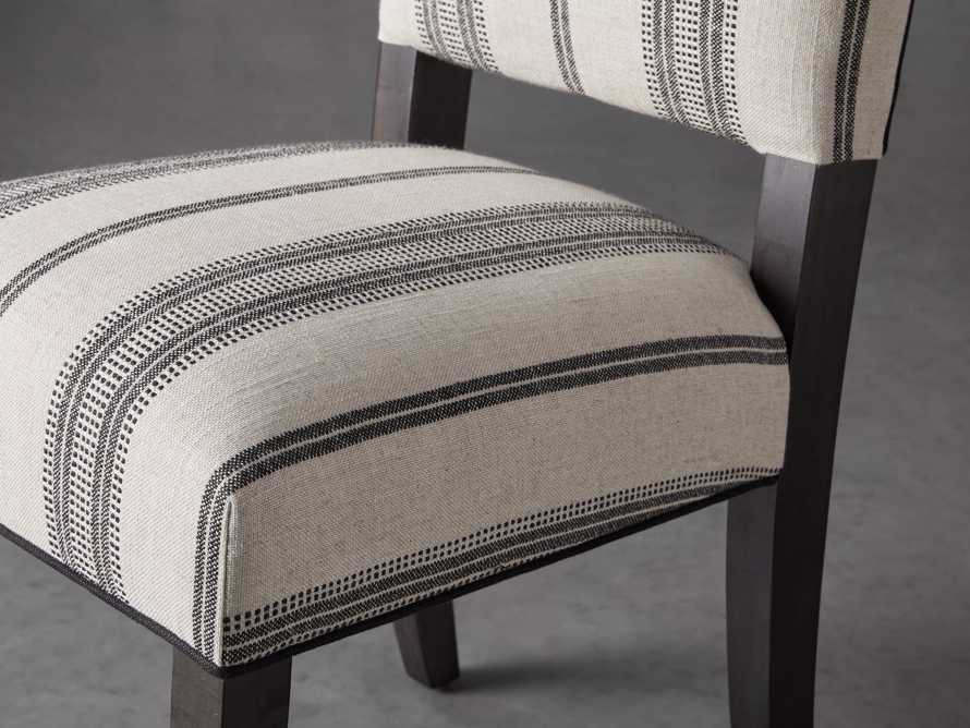 """Torino 20"""" Upholstered Dining Side Chair in With Contrast Welt, slide 5 of 7"""