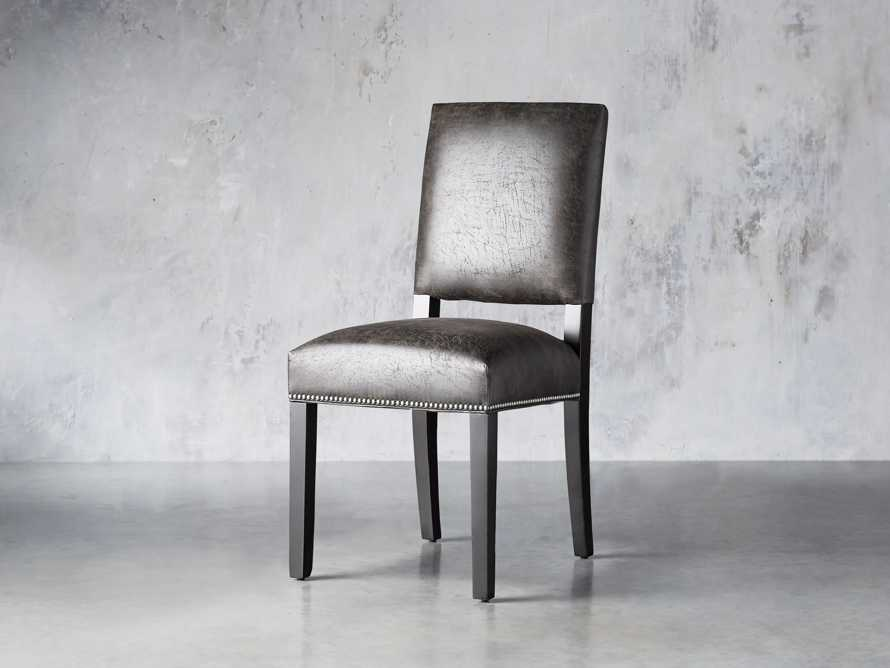 "Torino Recycled Leather 20"" Dining Side Chair, slide 2 of 9"