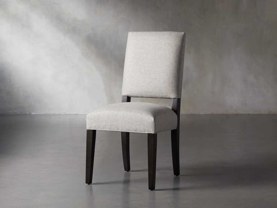 Torino Upholstered Dining Side Chair in Turbo Ash, slide 3 of 9