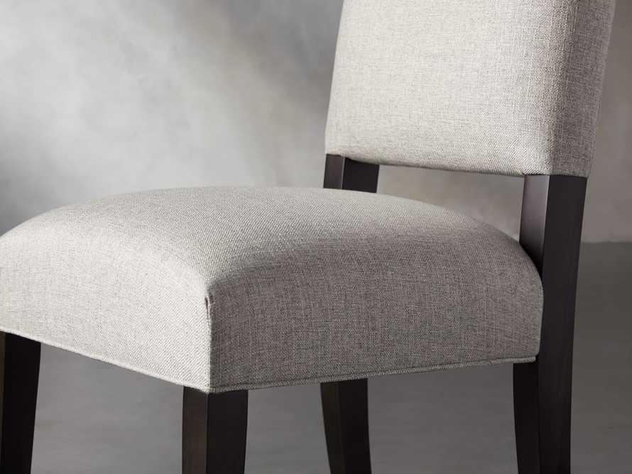 Torino Upholstered Dining Side Chair in Turbo Ash, slide 7 of 9