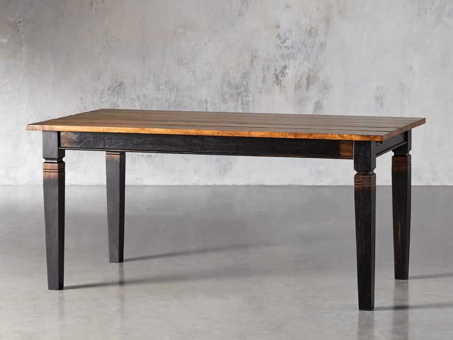 """Toulon 66"""" Extension Dining Table in Toasted Auburn, slide 3 of 10"""