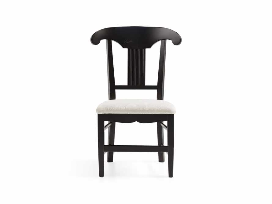 "Tuscany 25"" Dining Side Chair with Upholstered Seat in Rubbed Black, slide 3 of 5"