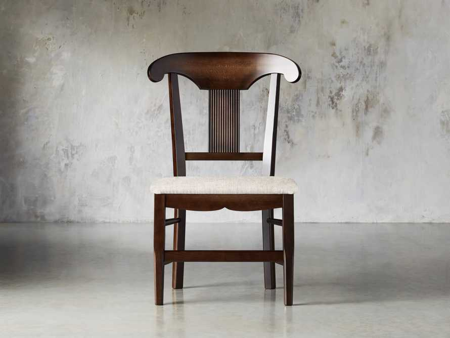 "Tuscany 25"" Dining Side Chair with Upholstered Seat in Noceto, slide 2 of 4"