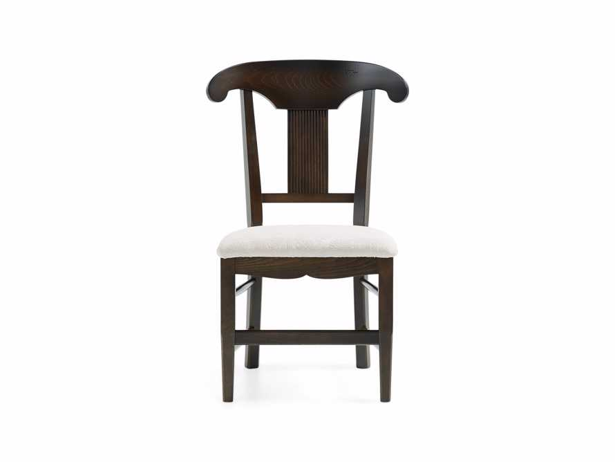 "Tuscany 25"" Dining Side Chair with Upholstered Seat in Noceto, slide 3 of 4"