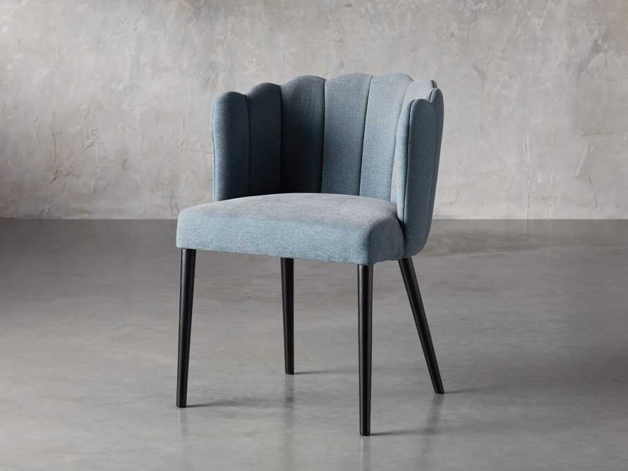 "Ursula 24"" Dining Chair in Grecia Sea, slide 2 of 7"