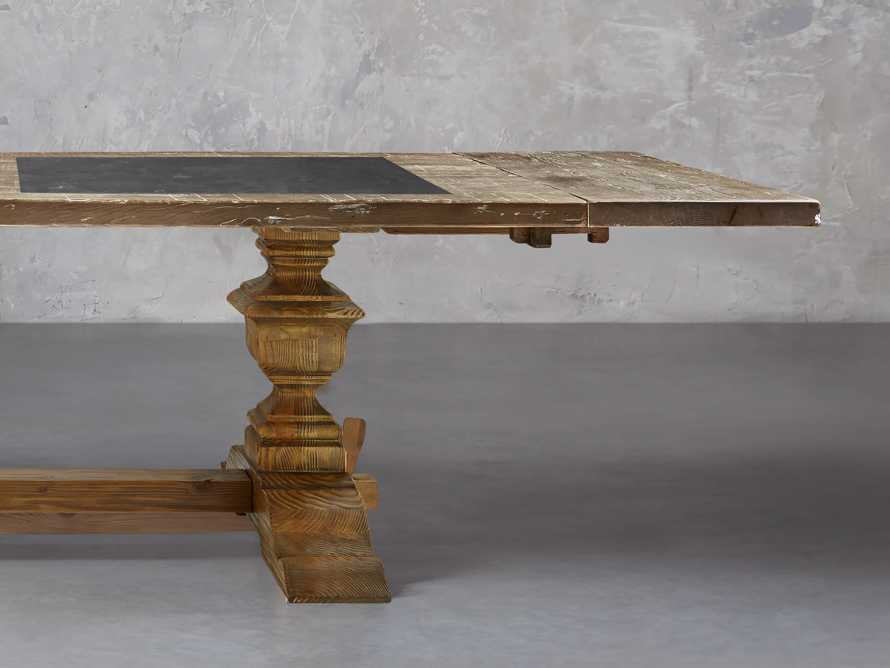 """Wilhelm 72"""" Grey and Bluestone Extension Dining Table With Natural Base"""