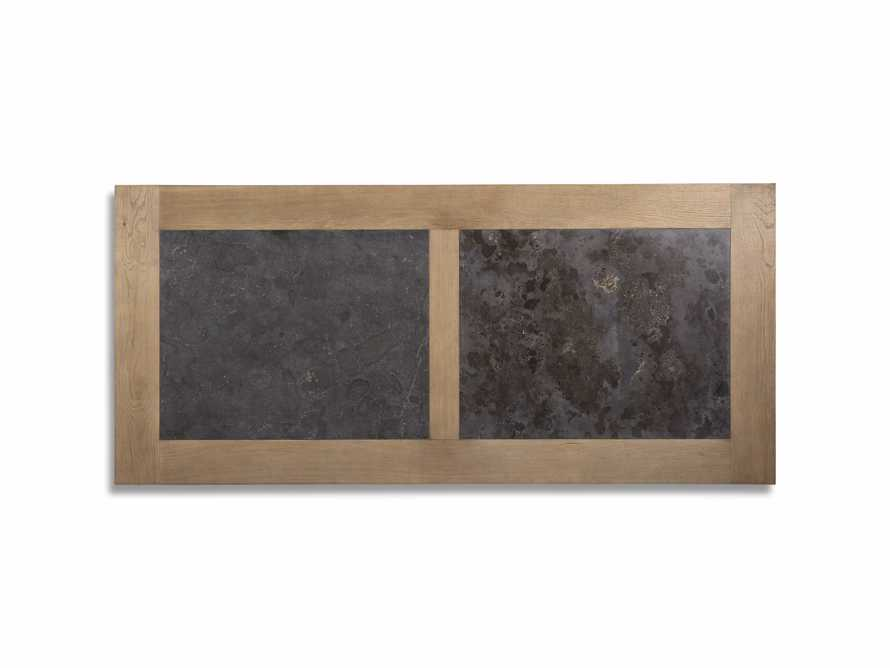"""Wilhelm 72"""" Natural Weathered and Bluestone Extension Dining Table With Earl Black Base, slide 7 of 9"""