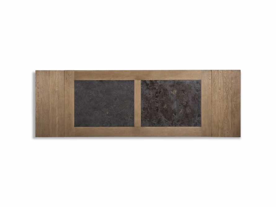 """Wilhelm 72"""" Natural Weathered and Bluestone Extension Dining Table With Earl Black Base, slide 8 of 9"""