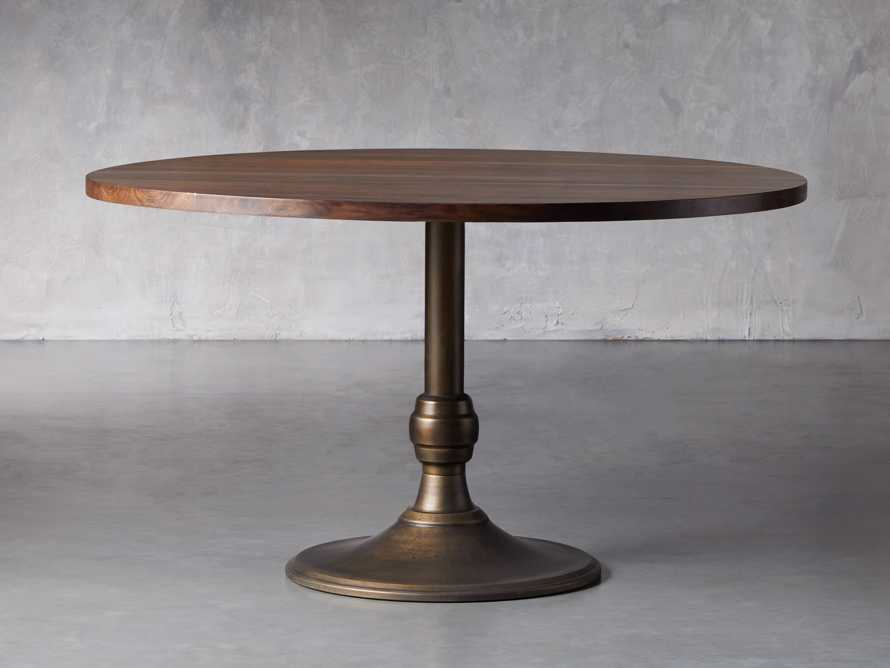 "Wade 54"" Walnut Round Dining Table"