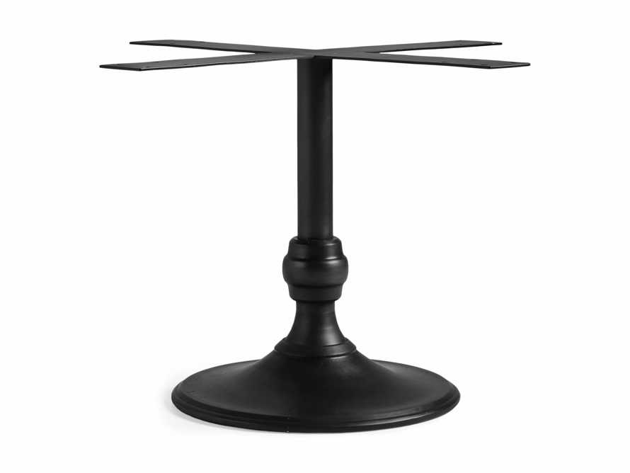 "Wade 24"" Metal Black Dining Table Base, slide 1 of 1"