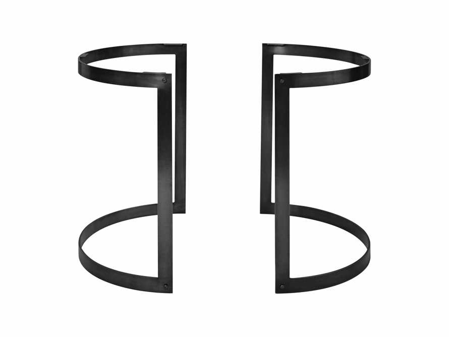 Wells Two Piece Table Base in Black