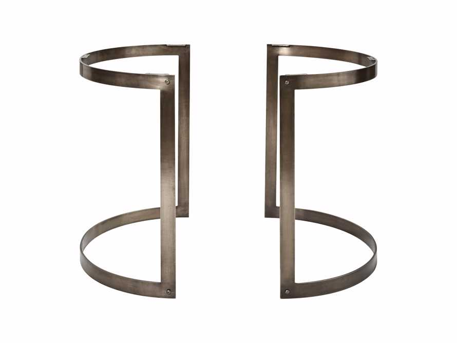 Wells Two Piece Table Base in Antique Pewter, slide 1 of 1