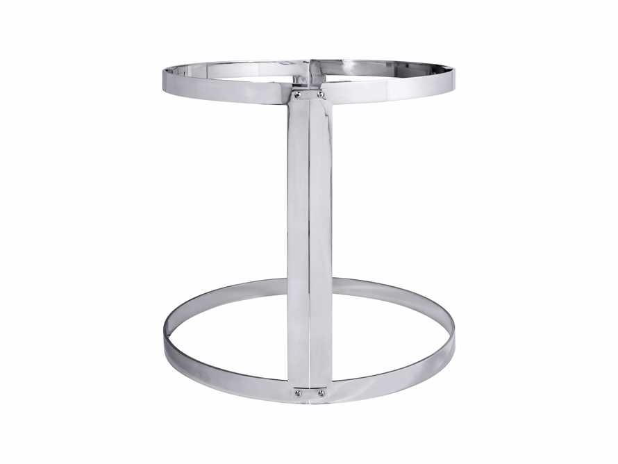 Wells Two Piece Table Base in Stainless Steel