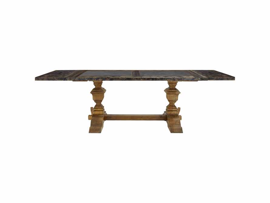 "Wilhelm 72"" Black and Bluestone Extension Dining Table With Natural Base, slide 3 of 5"