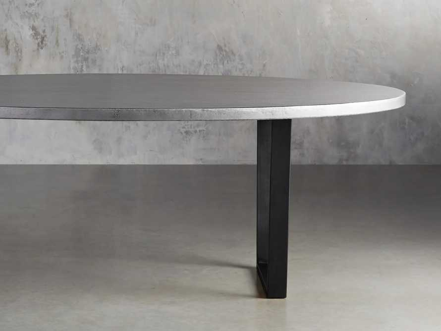 "Zinc Alloy 90"" x 52"" Dining Table with Hardyn Base in Black"